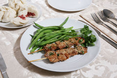 Het Diner van de kip Stock Afbeeldingen