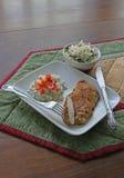 Het diner van de kippenkotelet Stock Afbeeldingen
