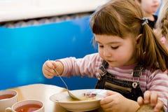 Het diner van de kleuterschool Royalty-vrije Stock Afbeelding