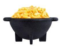 Het diner van de macaroni en van de kaas stock foto's