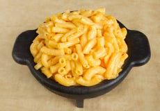 Het diner van de macaroni en van de kaas stock foto