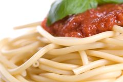 Het diner van de spaghetti Royalty-vrije Stock Afbeeldingen