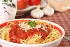 Het diner van de spaghetti. royalty-vrije stock foto