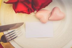 Het diner van de valentijnskaartendag royalty-vrije stock fotografie