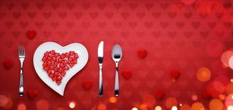Het diner van de valentijnskaartendag Royalty-vrije Stock Afbeelding