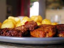 Het diner van het braadstukvarkensvlees Royalty-vrije Stock Fotografie