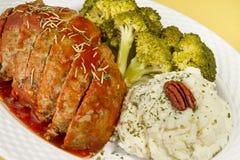 Het Diner van het Brood van het vlees Royalty-vrije Stock Foto's