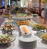 Het diner van het buffet royalty-vrije stock afbeeldingen