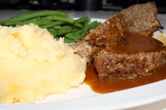 Het Diner van het gehaktbrood Stock Foto's
