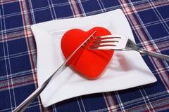 Het diner van het hart Royalty-vrije Stock Fotografie