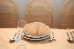 Het diner van het huwelijk Stock Foto