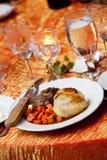 Het diner van het huwelijk Stock Fotografie
