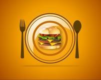 Het diner van het huwelijk met gerookt broodjesvlees en tomaten Stock Fotografie