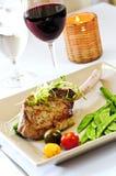 Het diner van het kalfsvlees royalty-vrije stock afbeelding