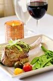 Het diner van het kalfsvlees royalty-vrije stock afbeeldingen
