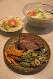 Het Diner van het lapje vlees royalty-vrije stock foto's
