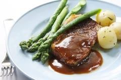 Het Diner van het lapje vlees Royalty-vrije Stock Fotografie