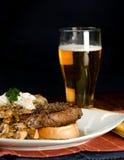 Het Diner van het lapje vlees en van de Aardappel Stock Afbeelding