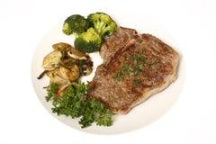 Het diner van het lapje vlees met kanten stock foto