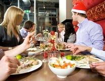 Het diner van het restaurant Stock Afbeelding