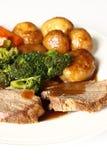 Het diner van het rundvlees stock afbeelding