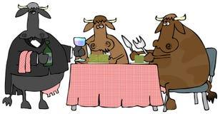 Het Diner van het rundvlees Royalty-vrije Stock Foto's