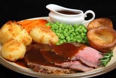 Het Diner van het Rundvlees van het braadstuk Royalty-vrije Stock Afbeelding