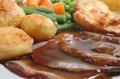 Het Diner van het Rundvlees van het braadstuk Stock Foto