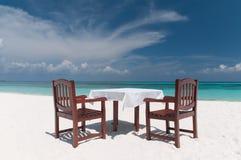 Het Diner van het strand royalty-vrije stock foto's