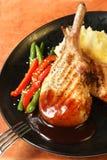 Het Diner van het varkensvlees royalty-vrije stock afbeelding