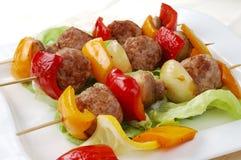 Het diner van Kebab Royalty-vrije Stock Foto