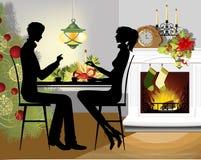 Het diner van Kerstmis. Royalty-vrije Stock Afbeelding