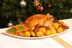 Het Diner van Kerstmis Stock Foto's