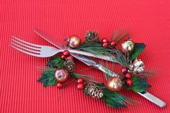 Het Diner van Kerstmis Royalty-vrije Stock Afbeeldingen
