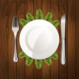 Het diner van Kerstmis Stock Afbeeldingen
