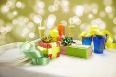 Het diner van Kerstmis thuis Stock Afbeeldingen