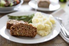 Het Diner van het linzebrood Royalty-vrije Stock Fotografie