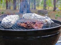 Het diner van het rundvleeslapje vlees stock foto's