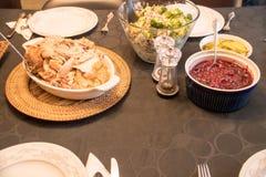 Het Diner van Turkije van de dankzegging Royalty-vrije Stock Fotografie