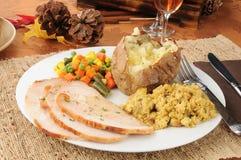 Het diner van Turkije van de dankzegging Stock Afbeeldingen