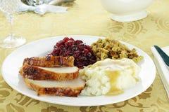 Het Diner van Turkije van de dankzegging Stock Foto's