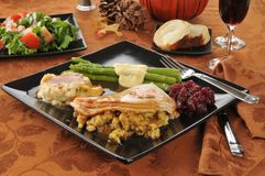 Het diner van Turkije van de vakantie Royalty-vrije Stock Foto