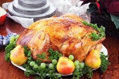 Het Diner van Turkije van Kerstmis Royalty-vrije Stock Fotografie