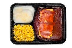 Het diner van TV van ribben stock fotografie