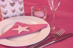 Het Diner van valentijnskaarten Stock Foto's