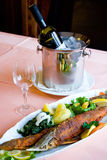 Het Diner van vissen Royalty-vrije Stock Fotografie