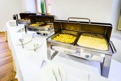 Het Dinercatering van het keuken Culinaire Buffet het Dineren Voedselviering stock afbeeldingen