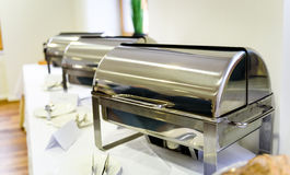 Het Dinercatering van het keuken Culinaire Buffet het Dineren Voedselviering Stock Foto