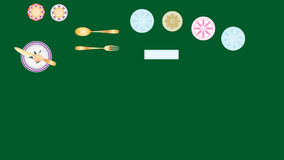 Het dineren etiquette vector illustratie