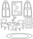Het dineren kleurende pagina Stock Afbeeldingen
